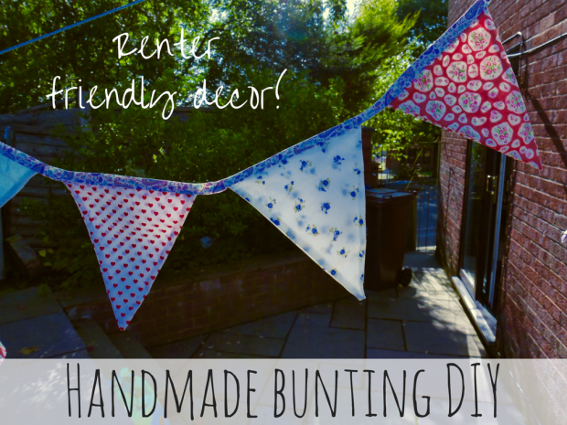 Handmade bunting makes a really unique and beautiful addition to any home. Great for renters, this bunting can be stuck up with blu tac!