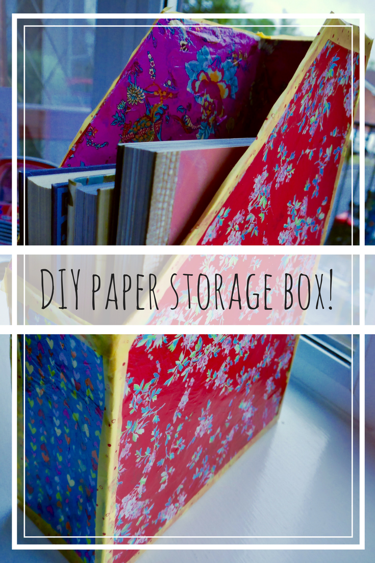 Check out this DIY paper storage box! Super cute AND super practical, a great craft project for the kids to get involved in.