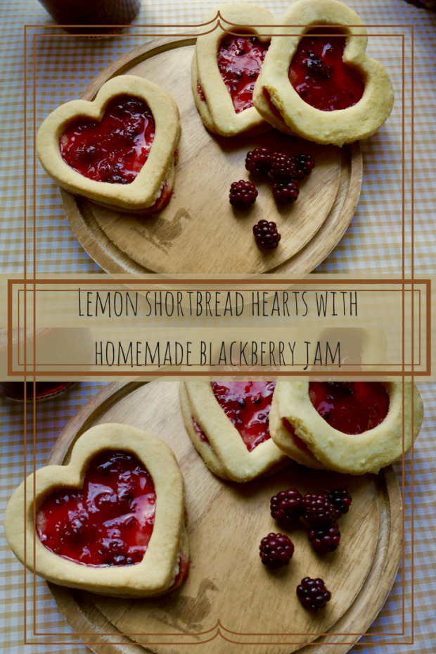 These lemon shortbread hearts make a wonderful gift for loved ones! The zesty lemon shortbread accompanied by the tarty blackberry jam is the perfect sweet treat for these Autumn nights.