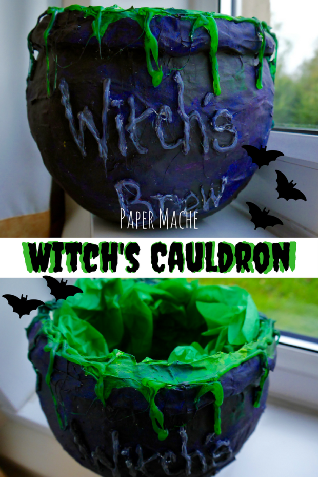 Get spooky with this Halloween DIY cauldron! A project for the kids to get involved with!