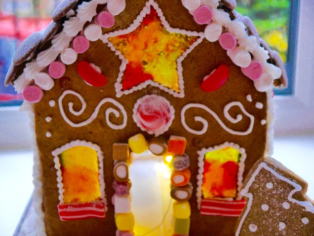 Homemade gingerbread house- perfect for celebrations over Christmas and New Year.